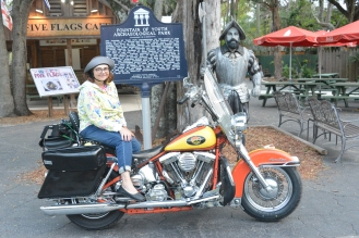 St Augustine Bryn Mawr Campground Motorcycle Harley Davidson 1994 Heritage softail Knight's Cycles 20171104_6151 Fountain of youth