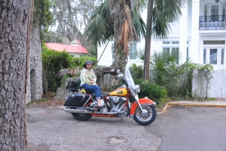 St Augustine Bryn Mawr Campground Motorcycle Harley Davidson 1994 Heritage softail Knight's Cycles 20171104_6162 Vera