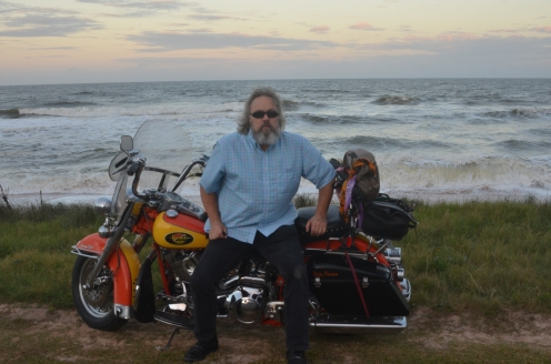 St Augustine Bryn Mawr Dogs Taco Flagler Beach 20171112_4960 Motorcycle 1994 Harley Davidson heritage Softail Shane Cactus